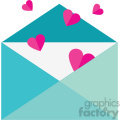 love letter with hearts svg cut files vector valentines die cuts clip art