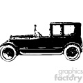 old vintage distressed brougham car retro vector design vintage 1900 vector art GF