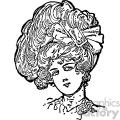big hair vintage 1900 vector art GF