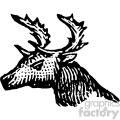 vintage distressed vintage deer logo GF vector design vintage 1900 vector art GF