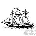 ship vintage 1900 vector art GF