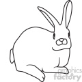 rabbit svg cut file vector outline  gif, png, jpg, svg, pdf
