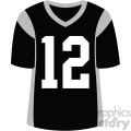 black football jersey vector svg cut files art  gif, png, jpg, eps, svg, pdf