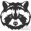 raccoon head vector art