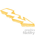 sketched right yellow arrow vector art