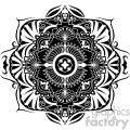 mandala geometric vector design 001