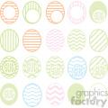 easter eggs svg cut file bundle  gif, png, jpg, eps, svg, pdf