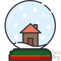 snowglobe vector icon