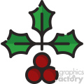 holly vector icon