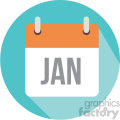 january calendar vector icon