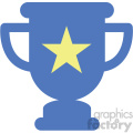 trophy star vector icon
