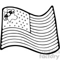 vector art american flag 001 bw