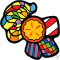 candy pieces vector clip art image