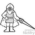 black and white knight art