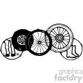 wheels black white