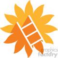 ladder rescue vector icon