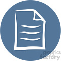 document circle background vector flat icon