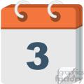 calendar vector flat icon