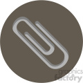 paperclip circle background vector flat icon