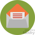 mail circle background vector flat icon