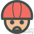 avatar wearing helmet vector icons