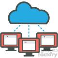 cloud website hosting vector icons