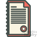 folder with papers vector icon