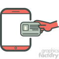 know your customer personal information smart device vector icon