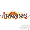 november header with turkey label