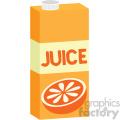 orange juice box carton flat icons