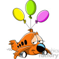 tired airplane cartoon character