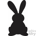 easter bunny ears up svg cut file