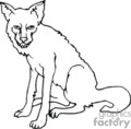 wolf wolves   anml096_bw clip art animals  gif