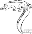 croc alligator alligators crocodile crocodiles   anmls001b_bw clip art animals  gif