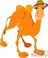 Cartoon camel wearing a hat