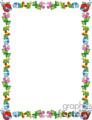cute worm border vector clip art image
