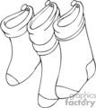 Three Black and White Stockings Hung