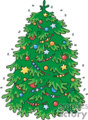 Large Decorated Christmas Tree