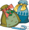 Colorful Christmas Gift Bags