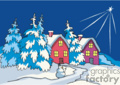 christmas mountains cabin cabins north star snow winter   xmas_005c clip art holidays christmas  gif