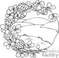 Spel223_bw vector clip art image