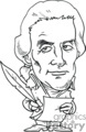 president presidents american political cartoon funny people thomas jefferson 3rd   pres3_thomas_jefferson_bw clip art people government  gif