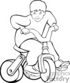 a black and white boy riding a tricycle gif