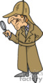 a private investigator looking through a magnifying glass