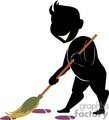shadow people silhouette cleaning sweeping   people-134 clip art people shadow people  gif, jpg