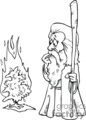 the burning bush cartoon outline