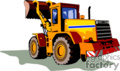 heavy equipment construction truck trucks tractors tractor front loader   transport_04_030 clip art transportation land  gif