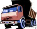 heavy equipment construction truck trucks dump   transport_04_035 clip art transportation land  gif
