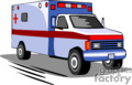 heavy equipment construction truck trucks ambulance emergancy medical rescue ems   transport_04_045 clip art transportation land  gif