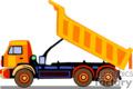 heavy equipment construction truck trucks dump   transport_04_070 clip art transportation land  gif